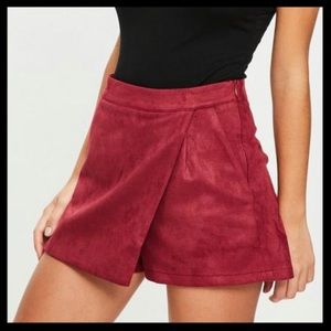 NWT Missguided Bonded Faux Suede Skort